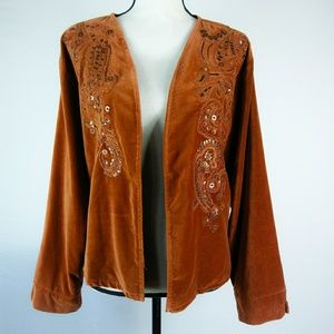 Chico's Women's Jacket Sienna Soft Beaded
